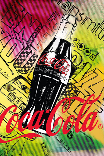 Coca cola 125 anniversary poster sold at europosters