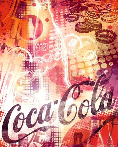 COCA-COLA - graphic Poster, Art Print