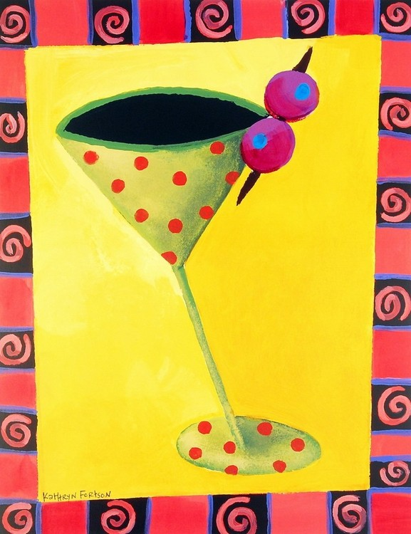 Cocktail Whimsy II Art Print