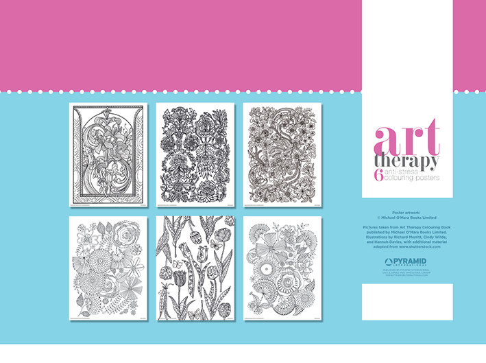 Art Therapy - Flower Coloring Poster