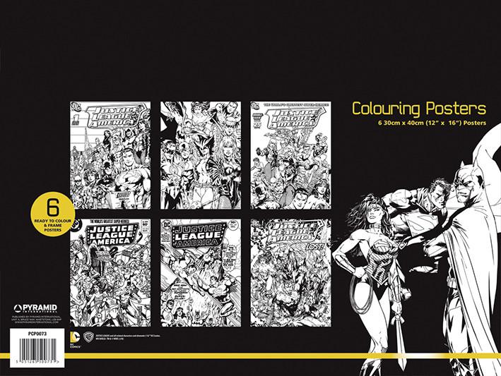 DC Comics - Justice League Coloring Poster