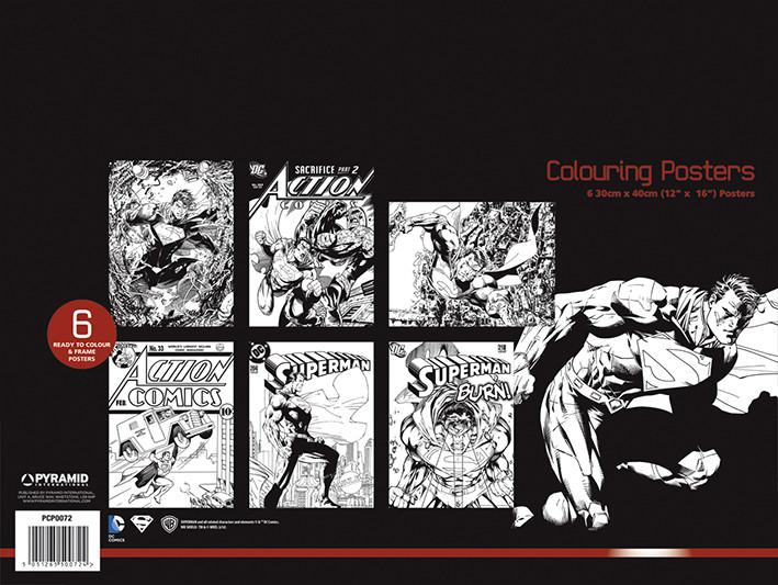 DC Comics - Superman Coloring Poster