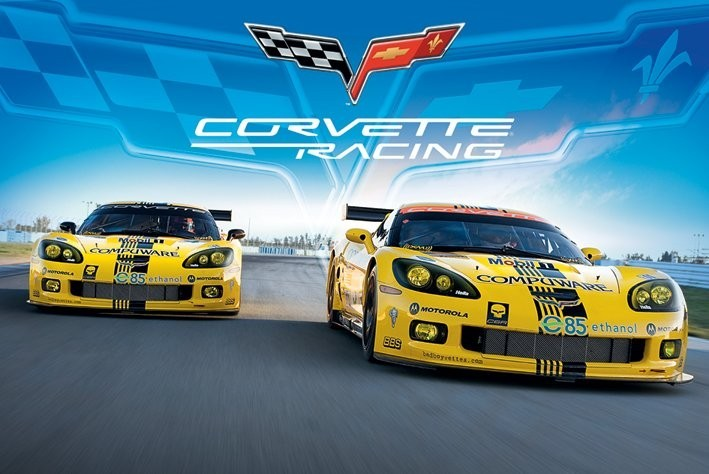 Corvette racing Poster, Art Print