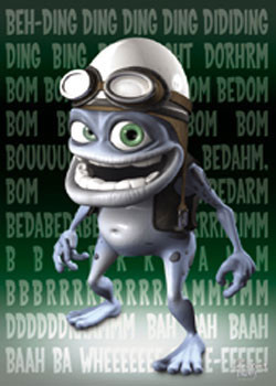 Crazy Frog - Green Poster, Art Print
