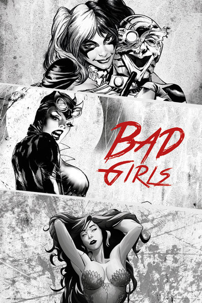 Poster DC Comics - Badgirls (B&W)