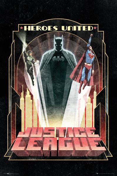 DC Comics - Batman Art Deco Poster, Art Print