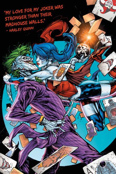 DC Comics - Harley Kiss Poster, Art Print
