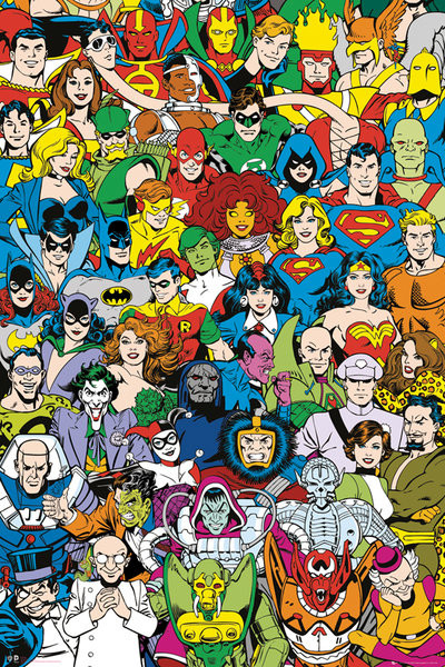 Poster DC Comics - Retro Cast