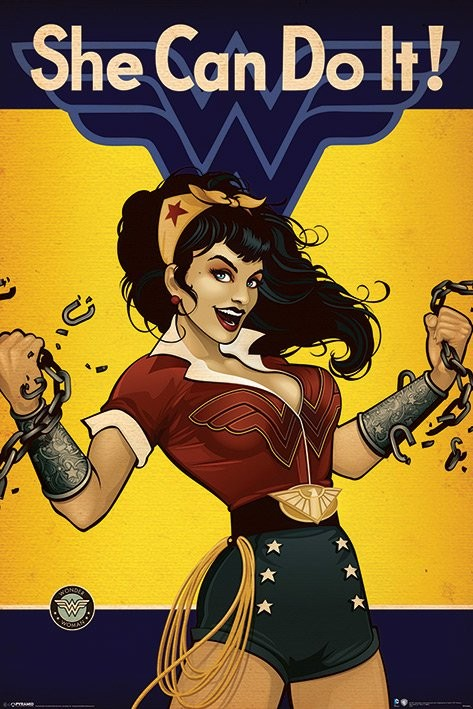 dc comics wonder woman she can do it poster sold at abposters com