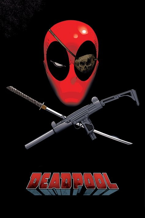 Deadpool - Eye Patch Poster, Art Print