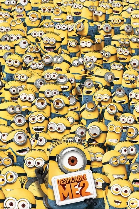 DESPICABLE ME 2 - many minions Poster, Art Print