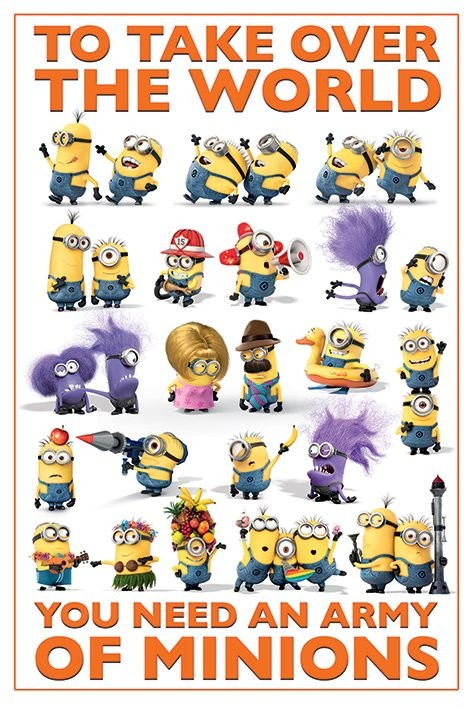 Pôster Despicable Me 2 - Take Over the World