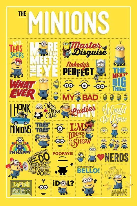 Poster Despicable Me - Infographic