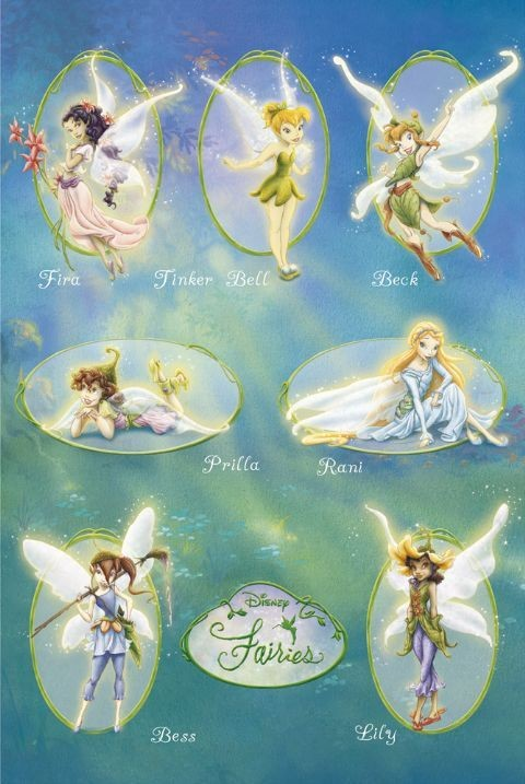 DISNEY FAIRIES- squad Poster
