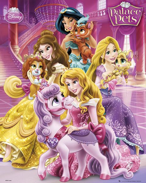Poster Disney Princess Palace Pets - Cast