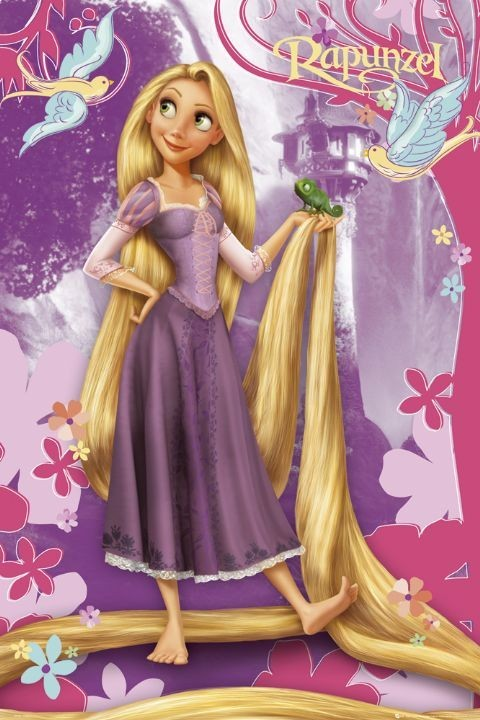 DISNEY PRINCESS - rapunzel Poster | Sold at Europosters