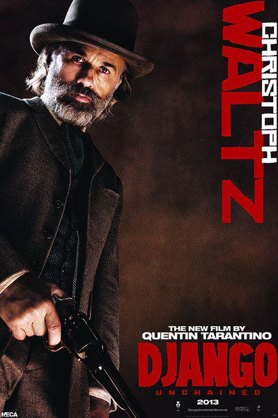 Poster DJANGO unchained - Dr. King Schultz   Christoph Waltz