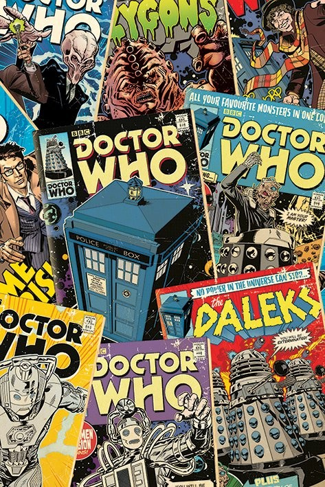 Poster Doctor Who - Comic Montage