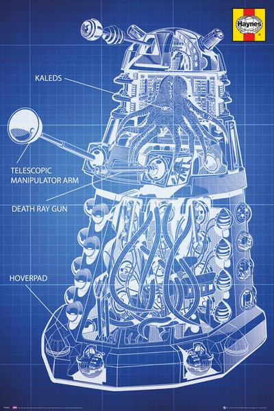 Doctor Who - Haynes Dalek Blueprint Poster