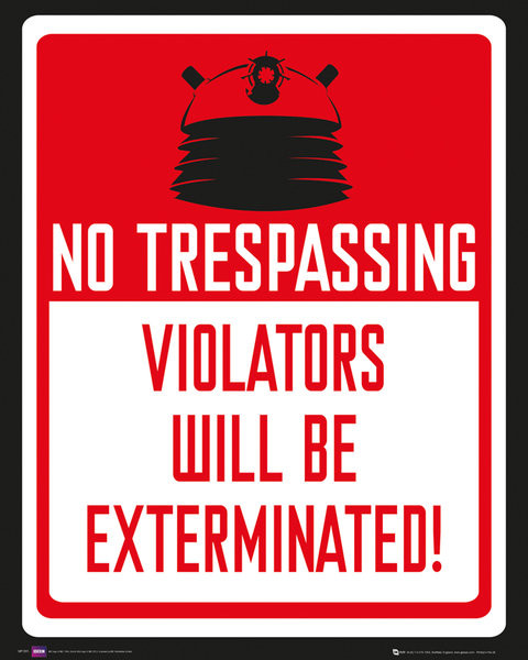 DOCTOR WHO - keep out Poster, Art Print