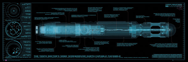 DOCTOR WHO - sonic screwdriver Poster, Art Print