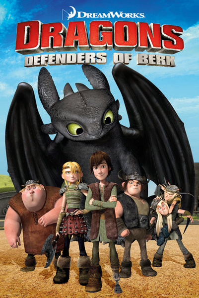 DRAGONS - Defenders Of Berk Poster, Art Print