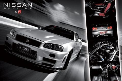 Easton - Nissan skyline gtr Poster