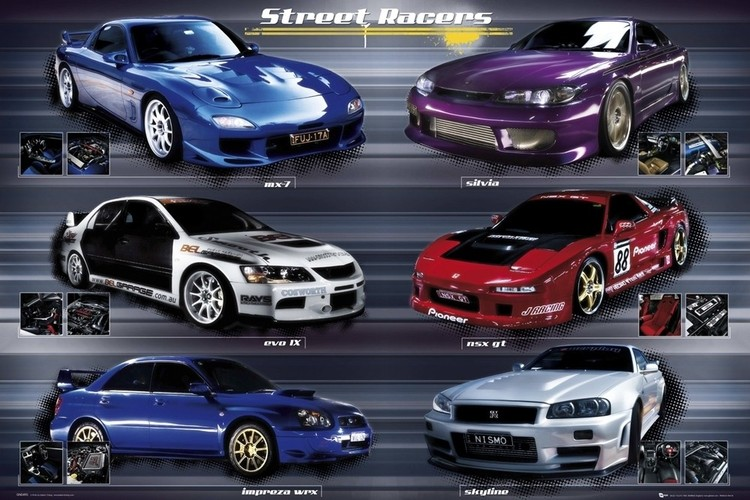 Poster Easton - street racers
