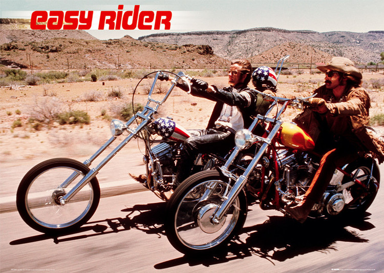 Easy rider - motorbikes Poster, Art Print