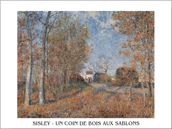 Edge of the Forest in Sablons Art Print