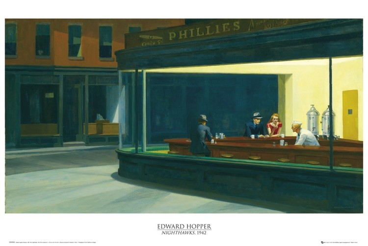Edward Hopper - nighthawks Poster