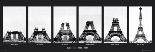 Eiffel Tower Wall Art eiffel tower - construction poster | sold at europosters