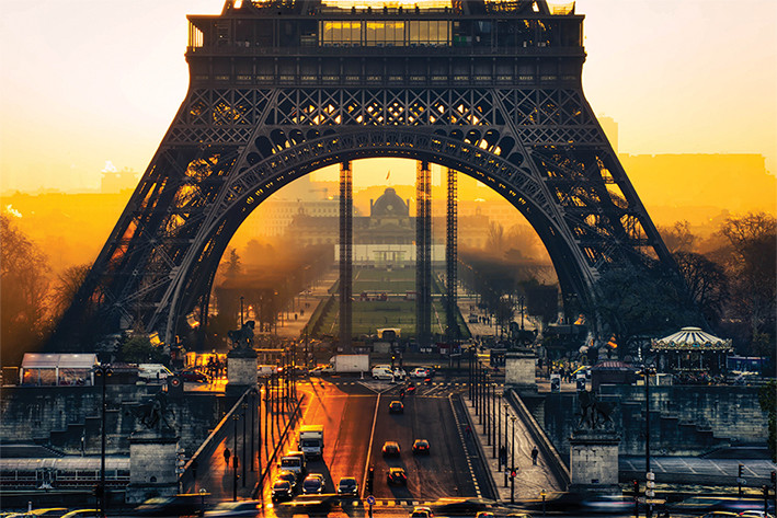 Eiffel tower sunrise poster sold at - Poster xxl paris ...