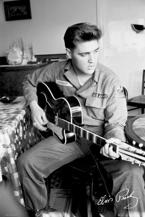 Elvis presley army poster