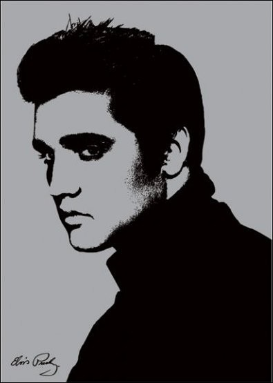 Elvis Presley - Metallic Art Print