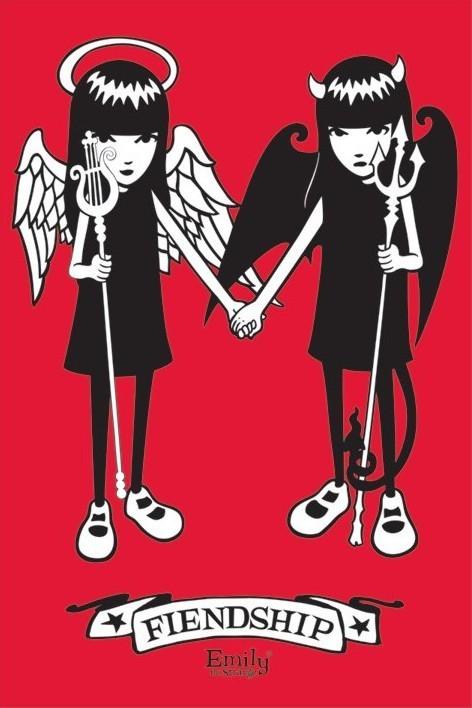 Emily the strange - friendship Poster, Art Print