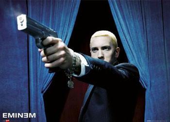 Eminem - shot Poster, Art Print
