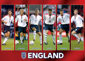 England - players Poster, Art Print
