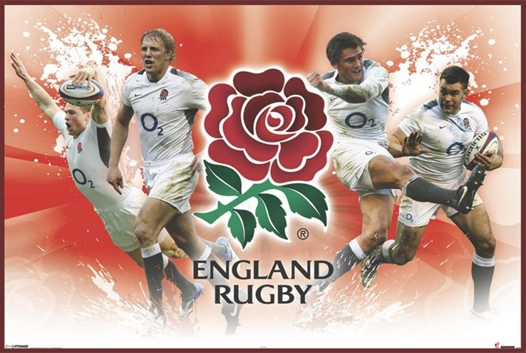England rugby - players Poster, Art Print