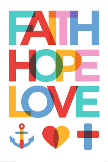 Faith Hope Love Poster Sold At Ukposters