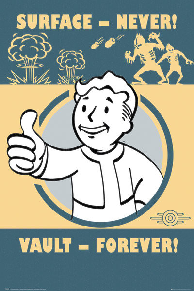 Fallout 4 - Vault Forever Poster