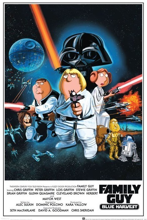 FAMILY GUY - star wars Poster, Art Print