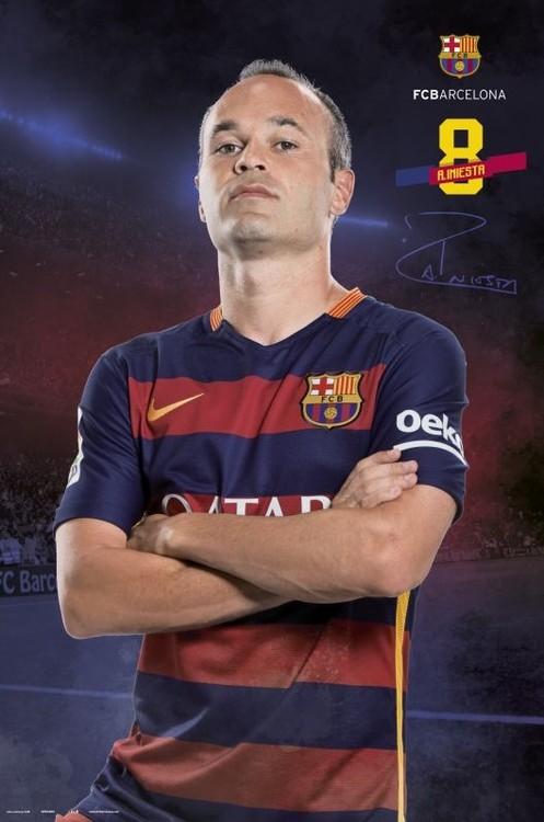 FC Barcelona - Iniesta pose 2015/2016 Poster