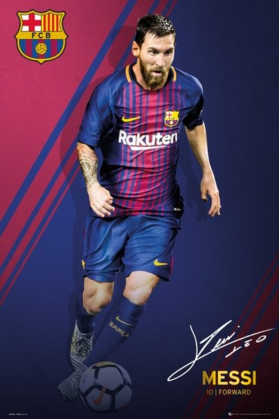 Fc Barcelona Messi 17 18 Poster Sold At Abposters Com