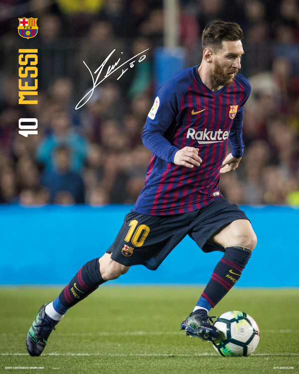 FC Barcelona - Messi 18-19 Poster