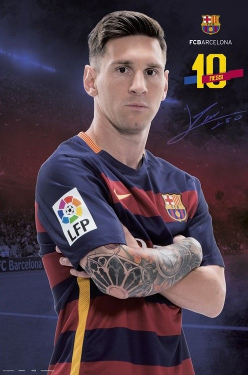 FC Barcelona - Messi Pose 2015/2016 Poster