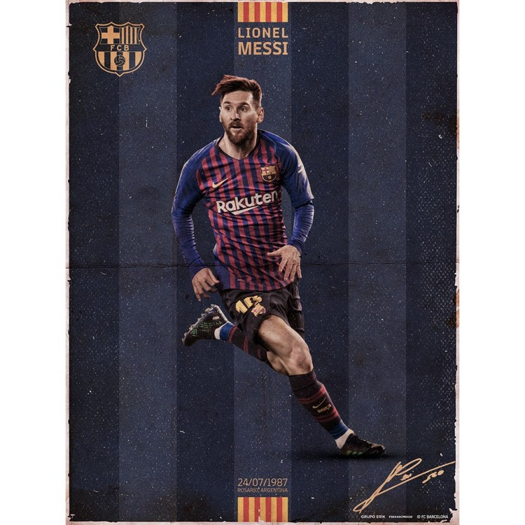 Lionel Messi Barcelona Argentina Abstract Art Print Black /& White Card or Canvas