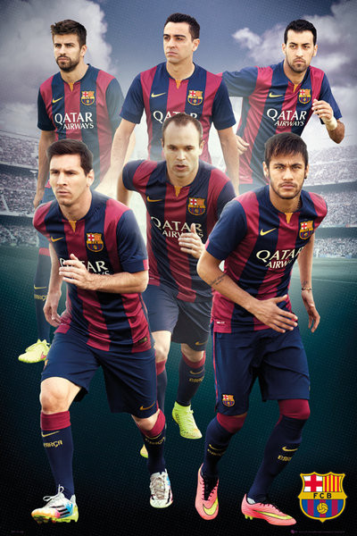 fc barcelona players 14 15 poster sold at europosters. Black Bedroom Furniture Sets. Home Design Ideas