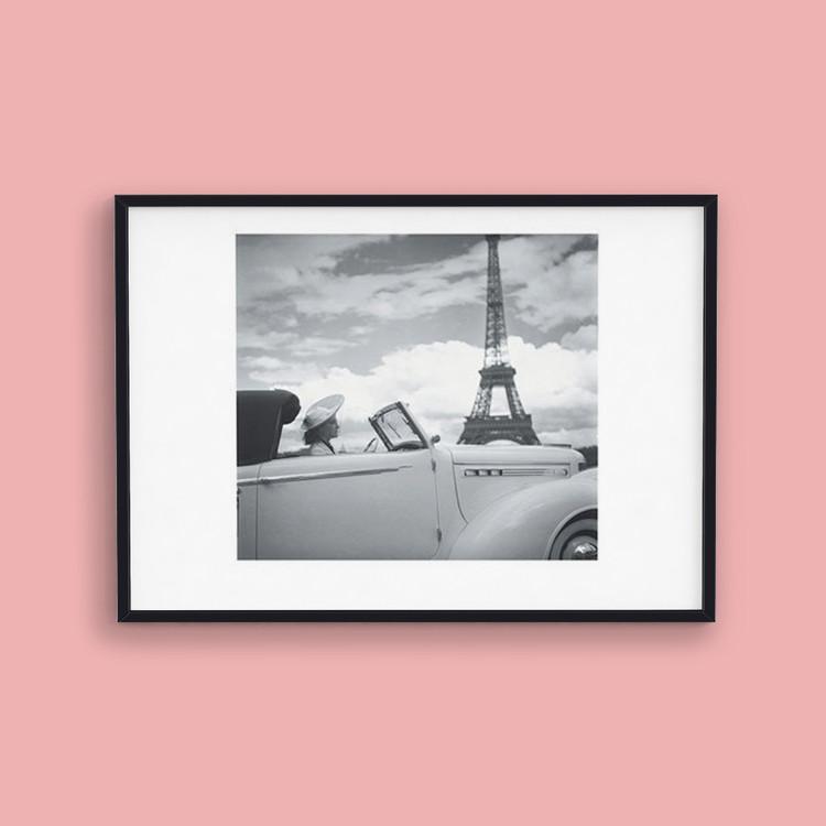 Femme au Volant Paris Art Print