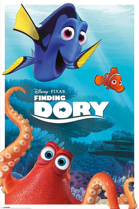 finding dory characters poster sold at ukposters. Black Bedroom Furniture Sets. Home Design Ideas
